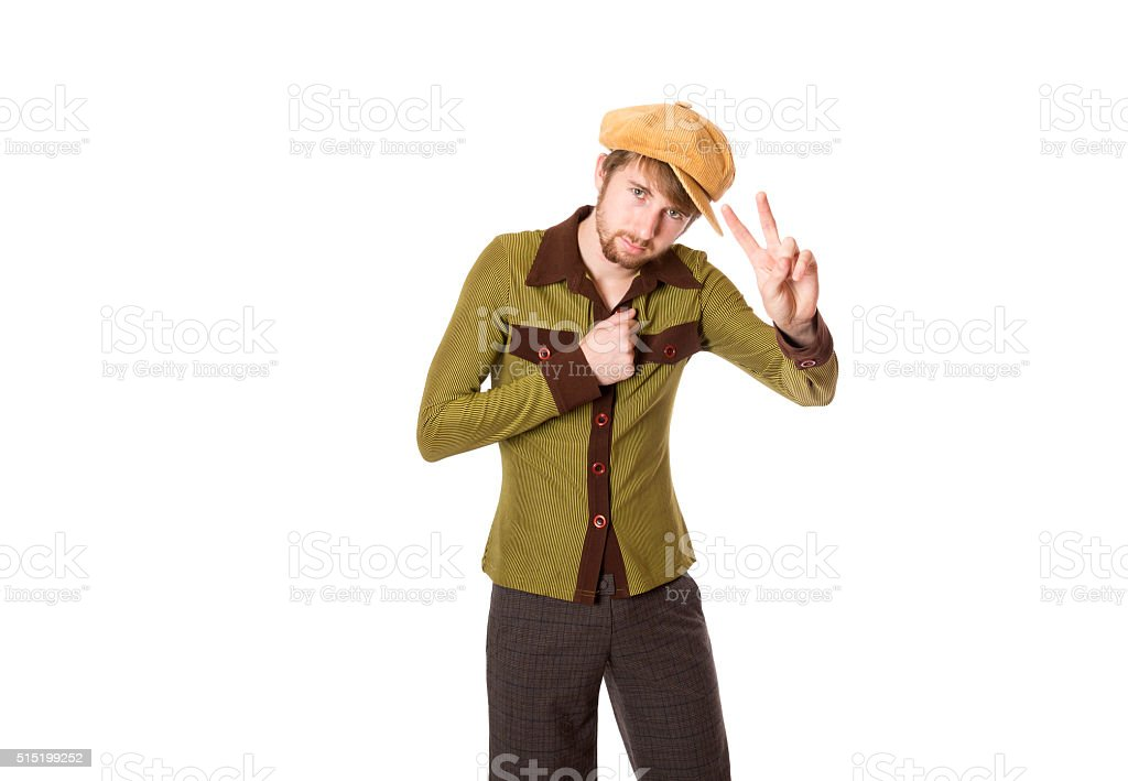 Peace Cool Brother stock photo