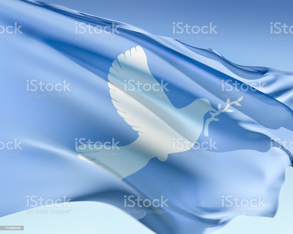 Peace Flag stock photo