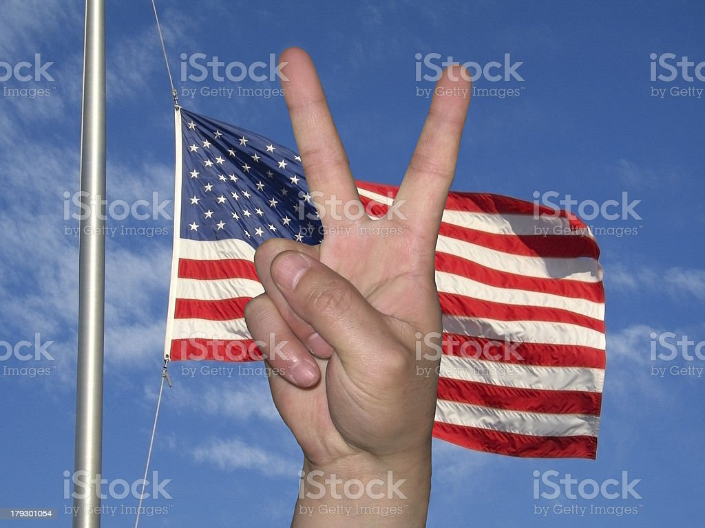 Peace Flag royalty-free stock photo
