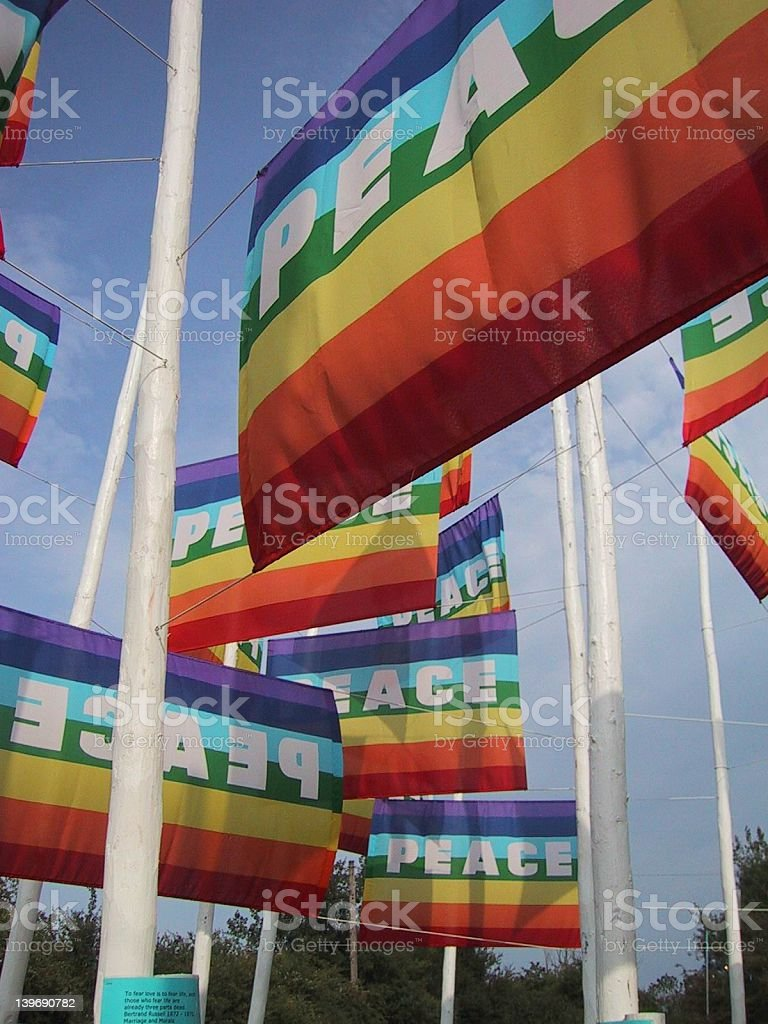 Peace flags II stock photo