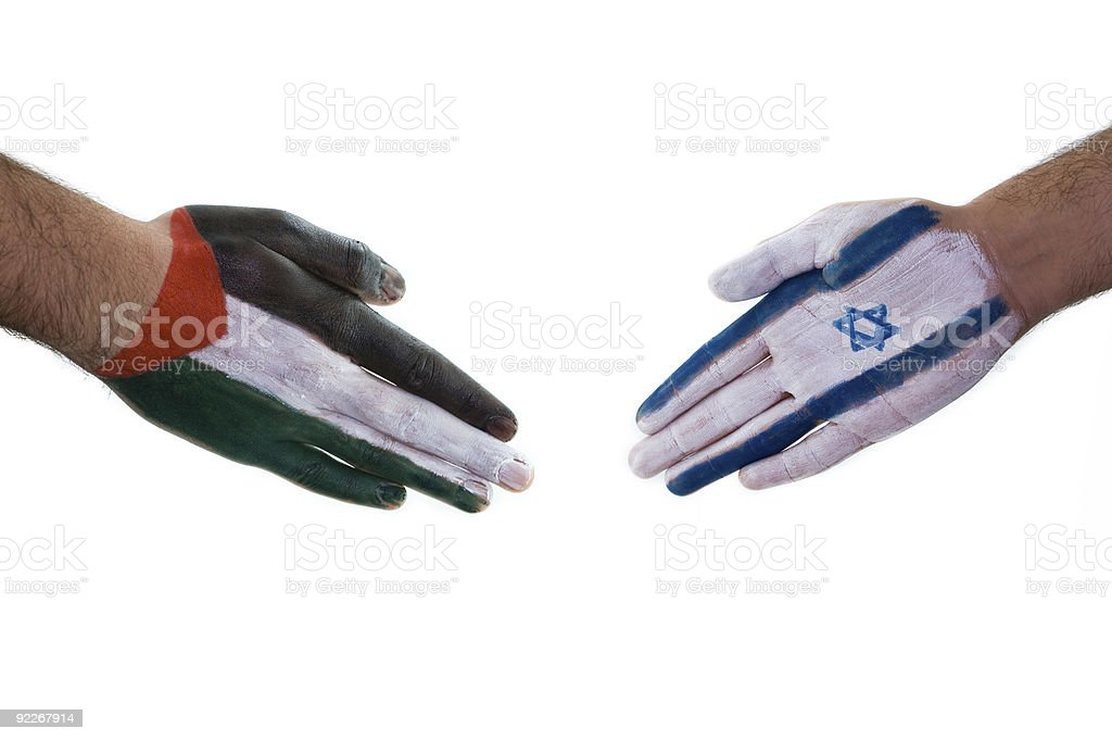 Peace for Palestine and Israel royalty-free stock photo