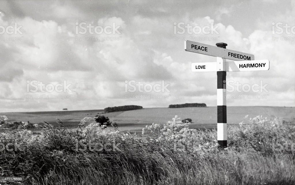 Peace, Freedom, Love, Harmony royalty-free stock photo