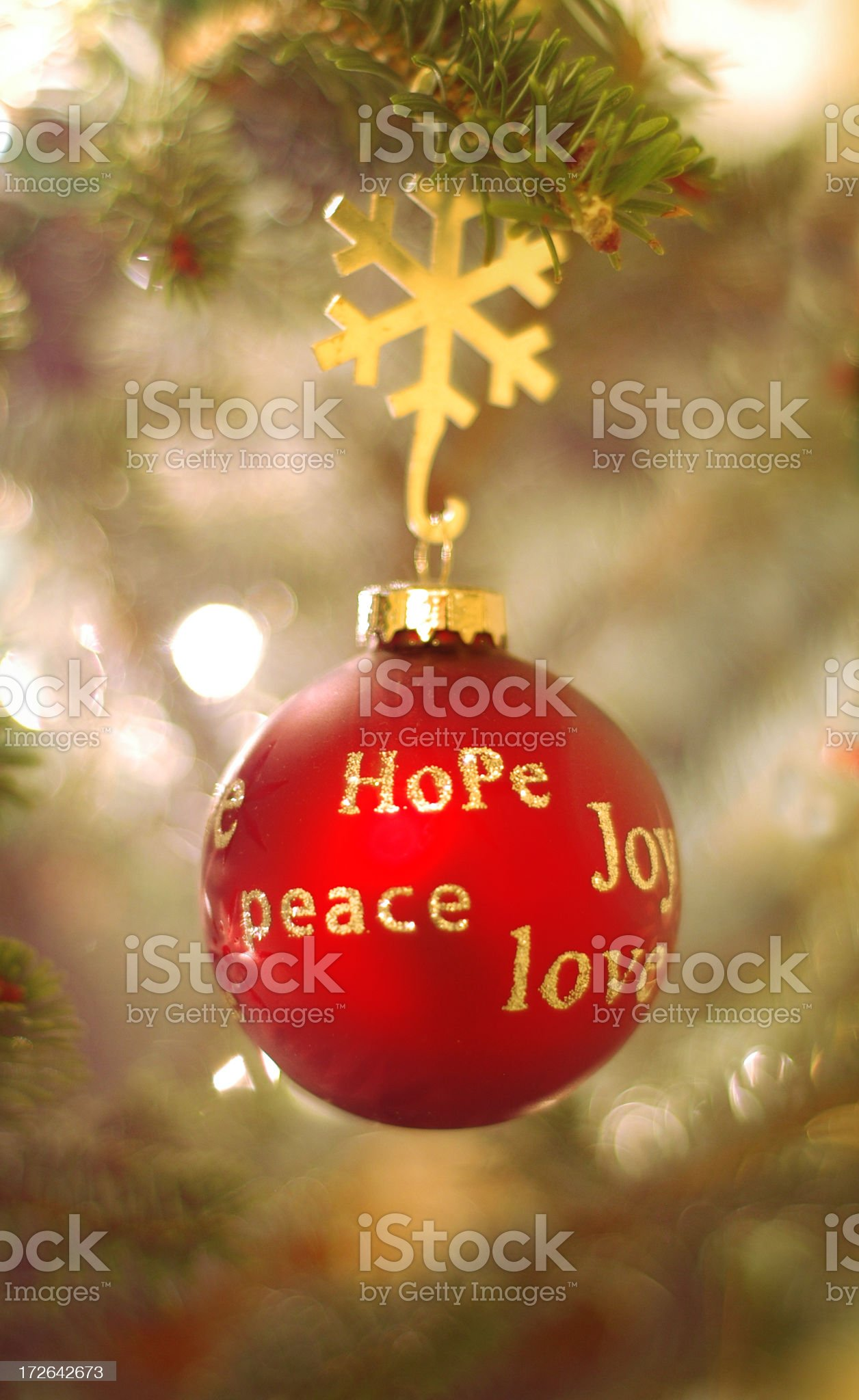 Peace, hope and lobe ornament royalty-free stock photo