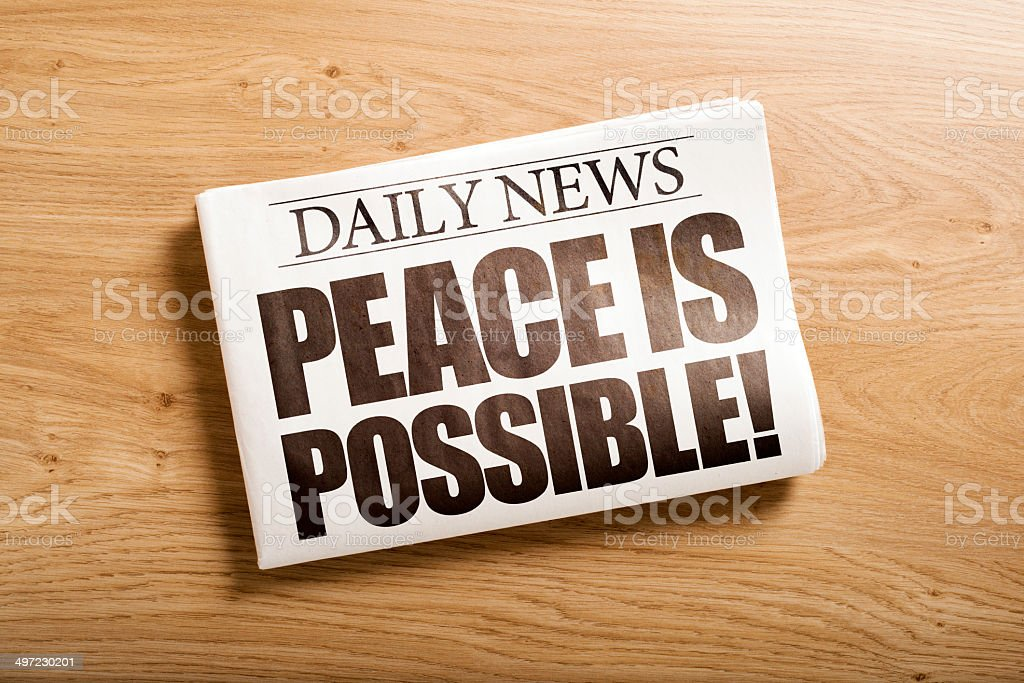 peace is possible stock photo