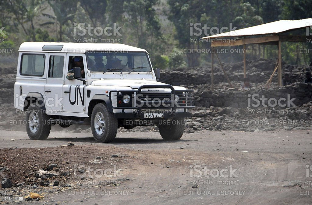 Peace keepers in Goma, Democratic Republic of Congo stock photo