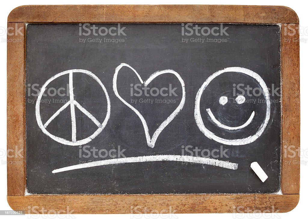 peace, love and happiness royalty-free stock photo