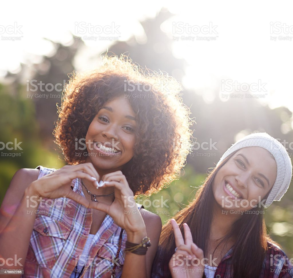 Peace, love and happiness! stock photo