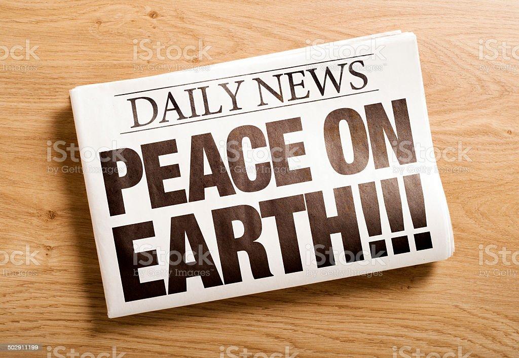 peace on earth stock photo