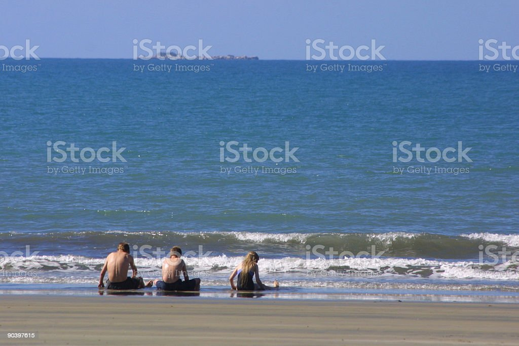 Peace on the Beach stock photo
