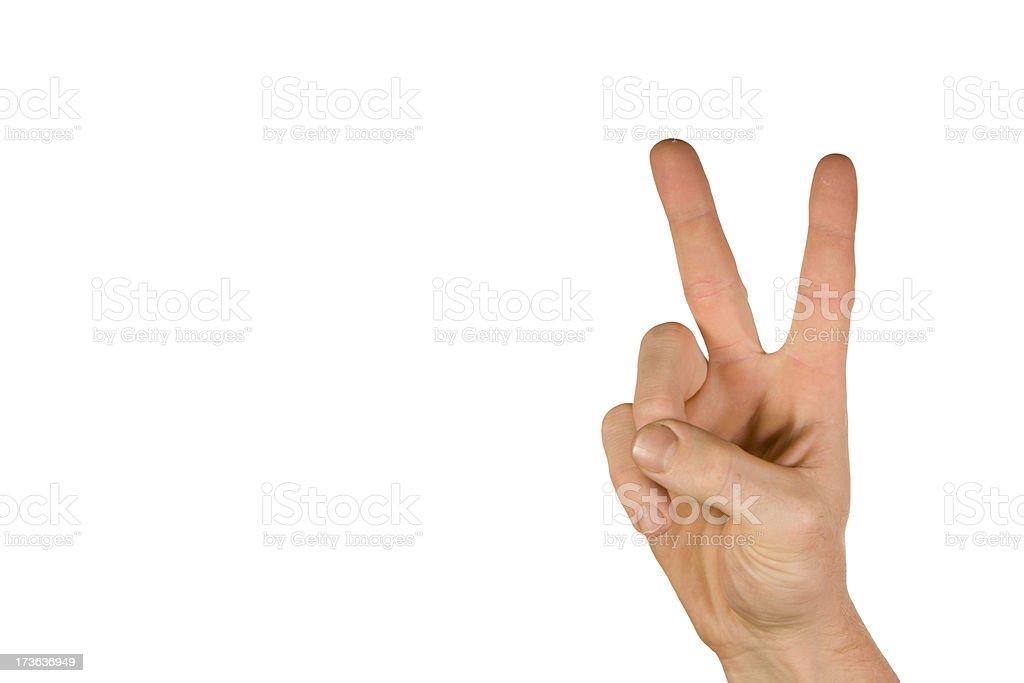Peace on White stock photo