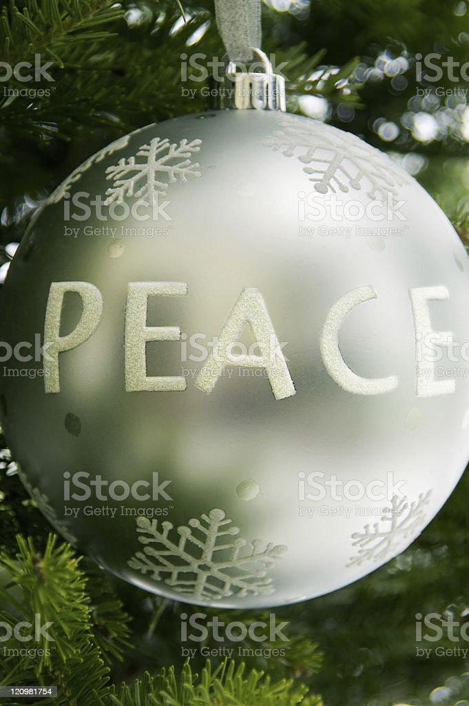 Peace Ornament stock photo