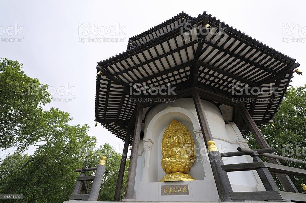 Peace Pagoda, Battersea Park, London, England, UK. stock photo