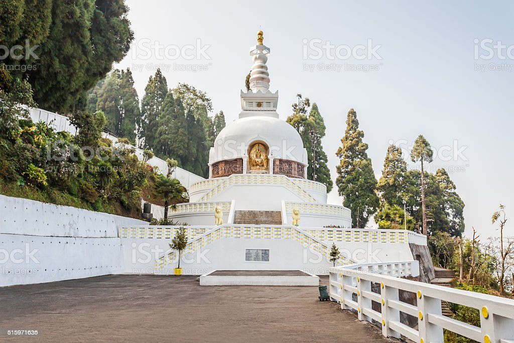 Peace Pagoda, Darjeeling stock photo