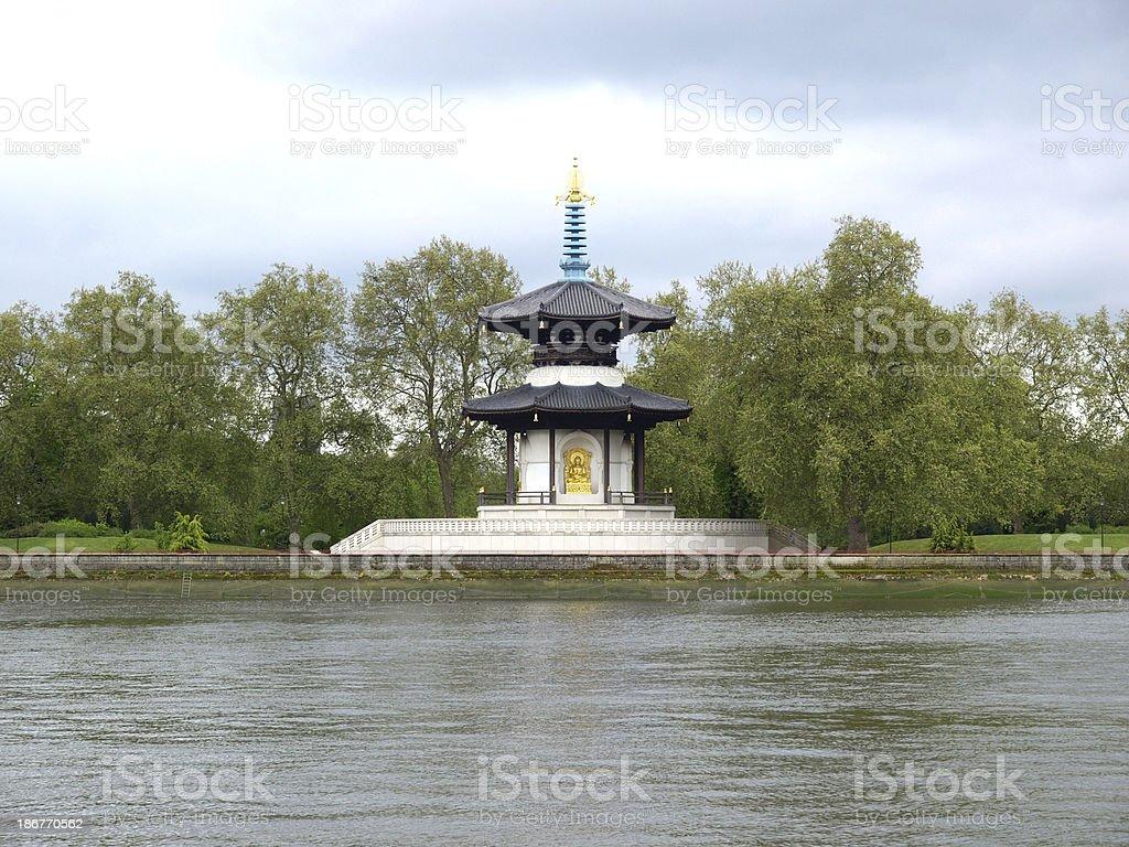 Peace Pagoda, London stock photo