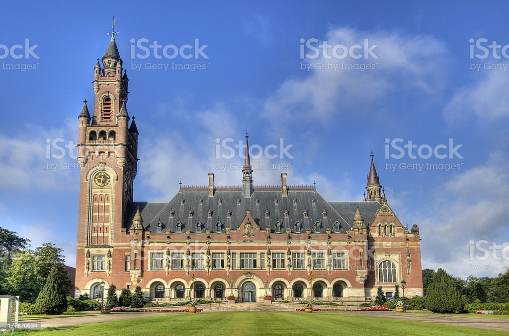 Peace Palace in Holland stock photo
