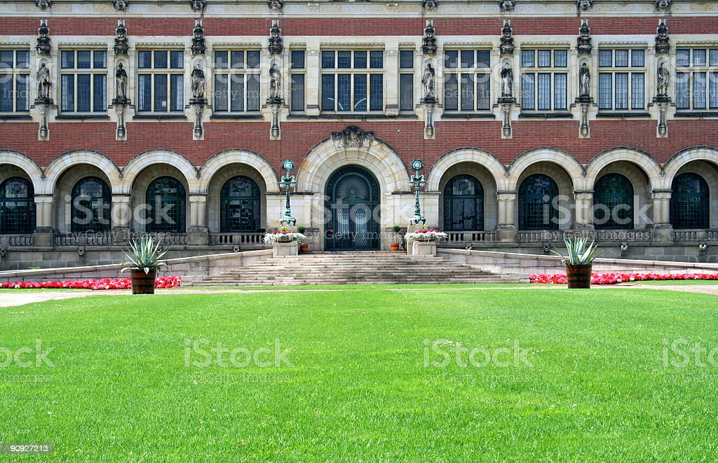 Peace Palace  (United Nations Court of Justice in The Hague) royalty-free stock photo
