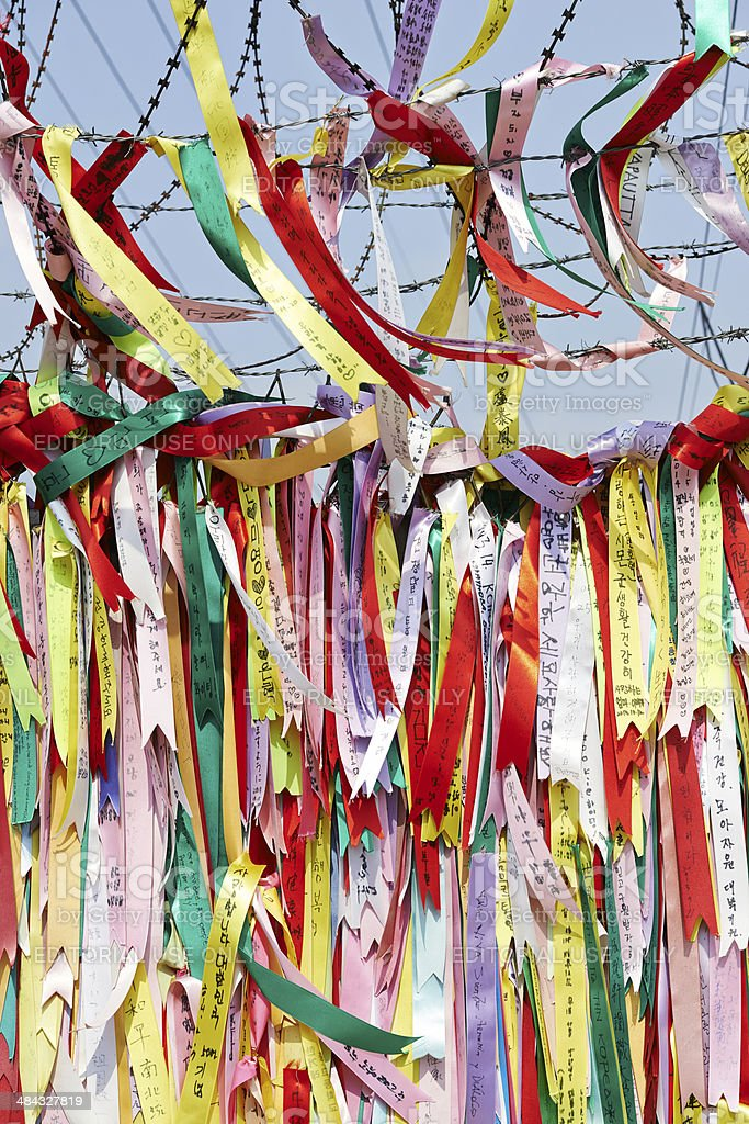 Peace Ribbons stock photo