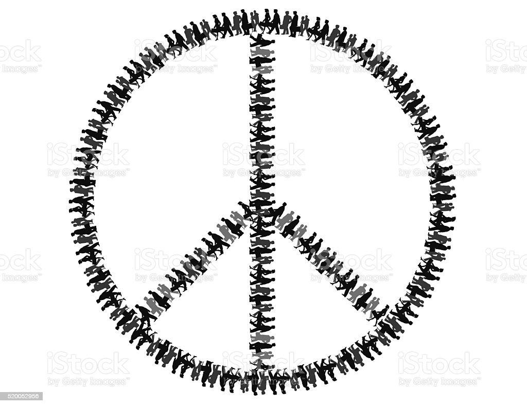 Symbole de la paix de personnes photo libre de droits