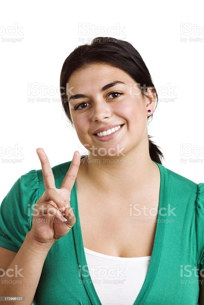 Peace Sign royalty-free stock photo