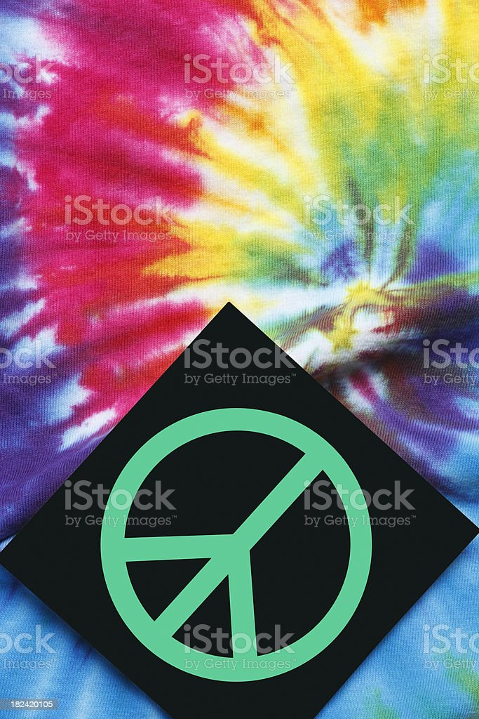 Peace Sign & Tie Dye royalty-free stock photo