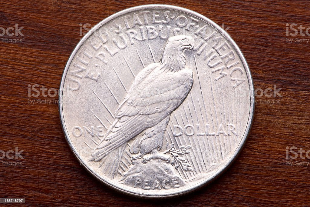 USA Peace Silver Dollar stock photo