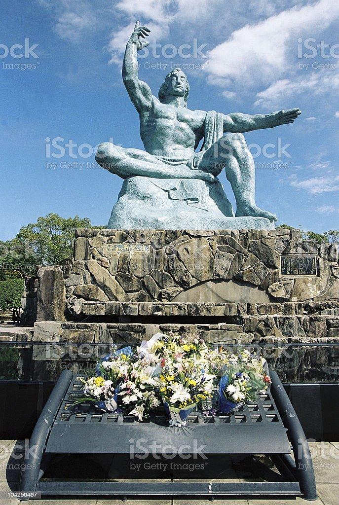 Peace Statue, Nagasaki,Japan stock photo