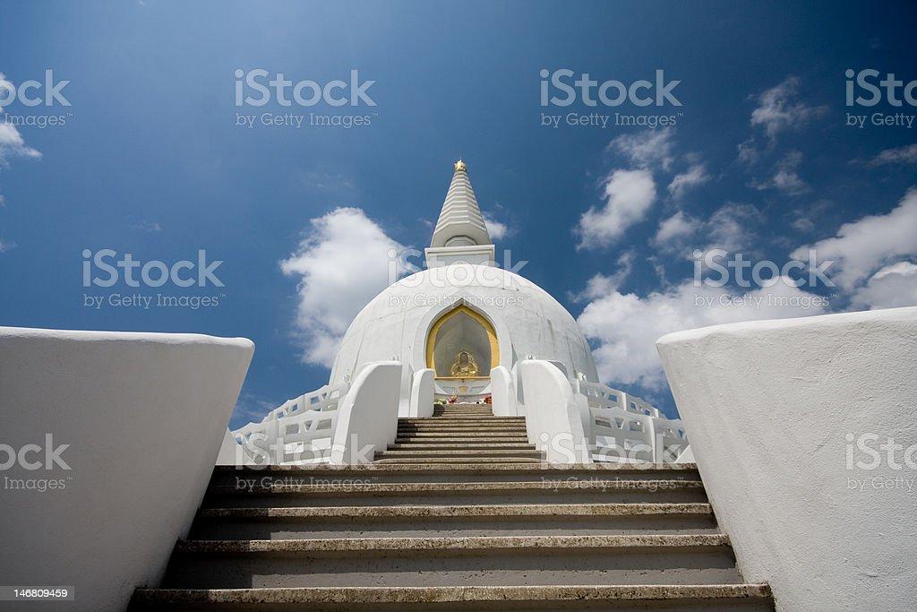 peace stupa stock photo