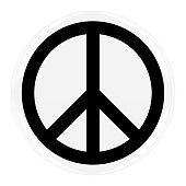 Peace Symbol Badge