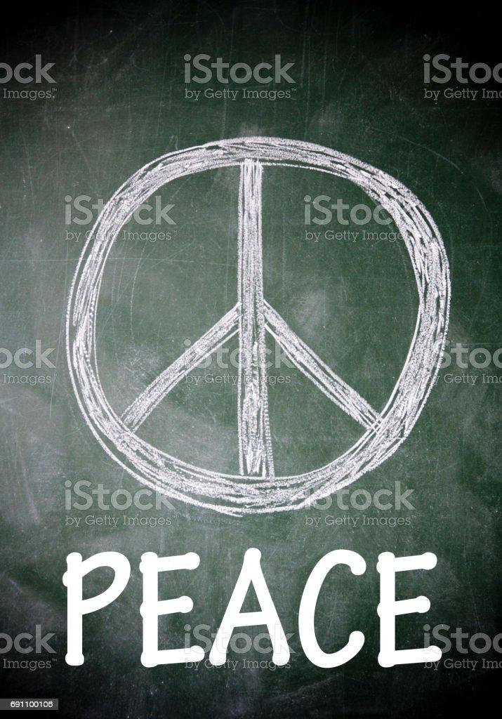 Peace symbol stock photo