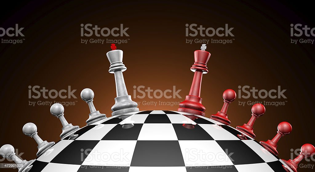 Peace talks (chess metaphor) stock photo
