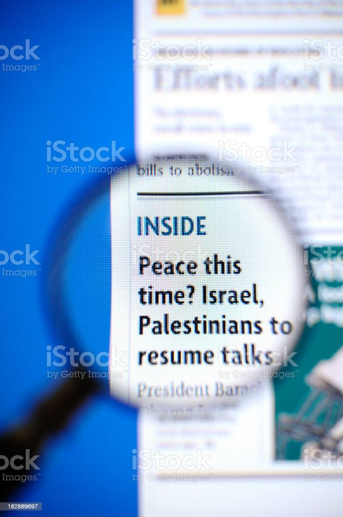 Peace this time? royalty-free stock photo