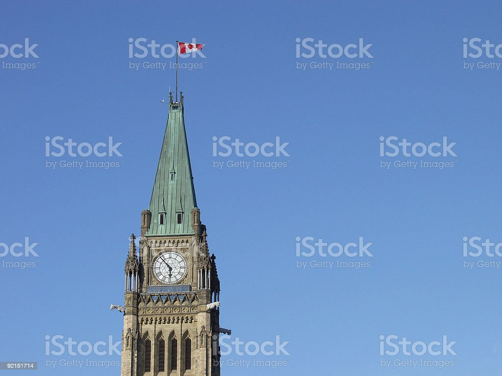Peace Tower and Blue Sky royalty-free stock photo
