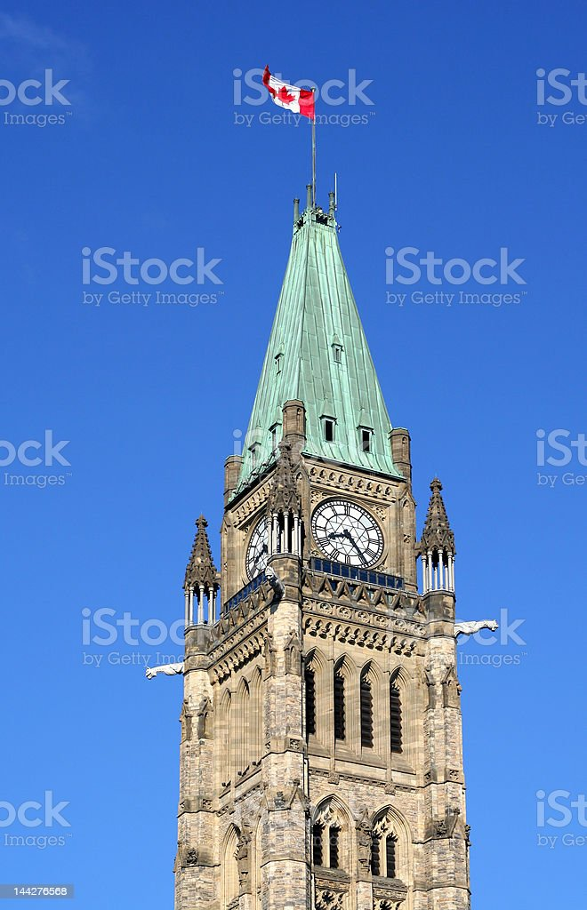 Peace Tower, Canadian Parliament royalty-free stock photo