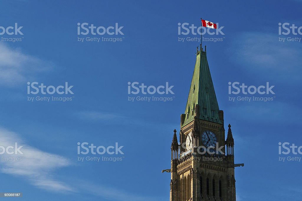 Peace Tower, Canadian Parliament stock photo