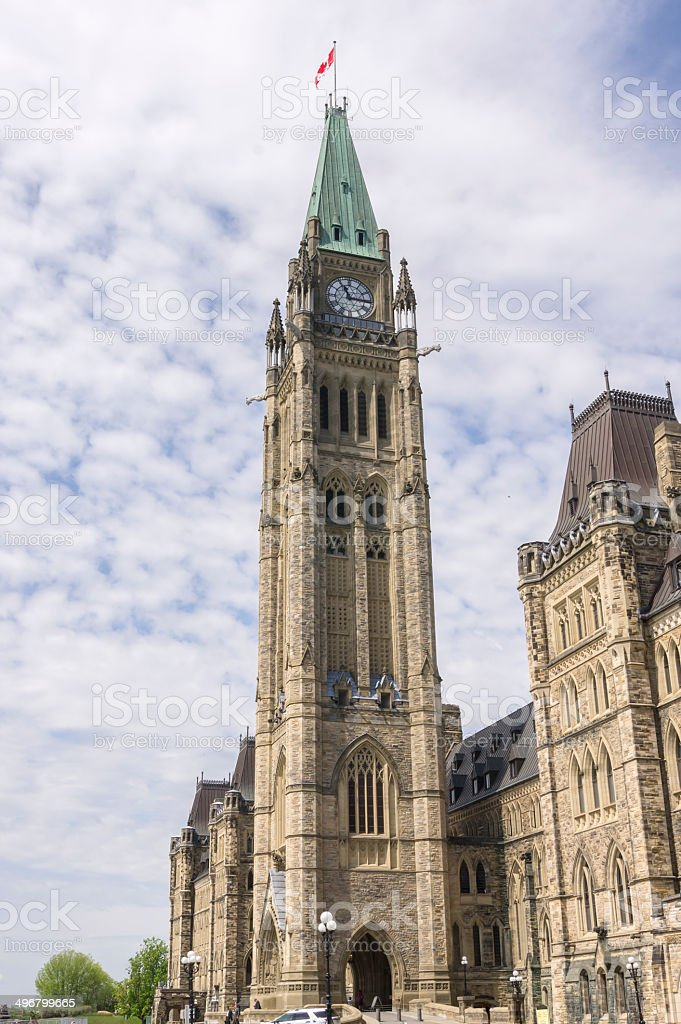 peace tower - from driveway royalty-free stock photo