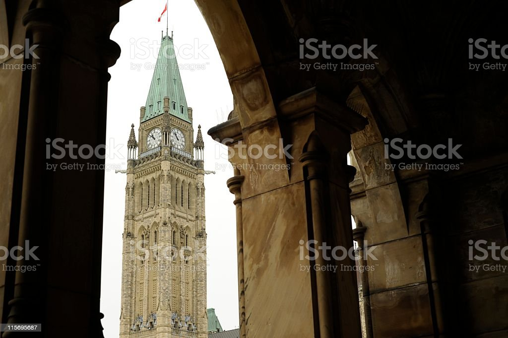 Peace tower of the parliament stock photo