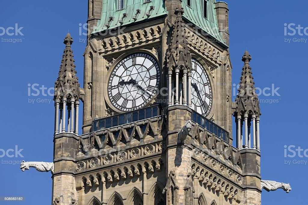 Peace Tower On Parliament Hill stock photo
