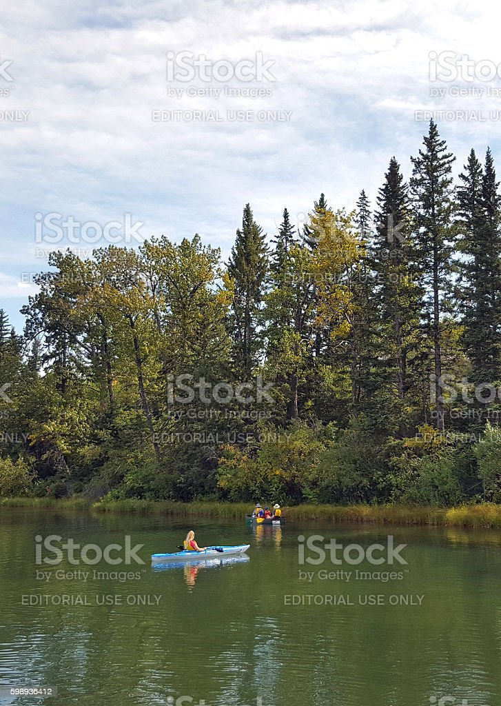 Peaceful Afternoon Floating On The Lagoon stock photo