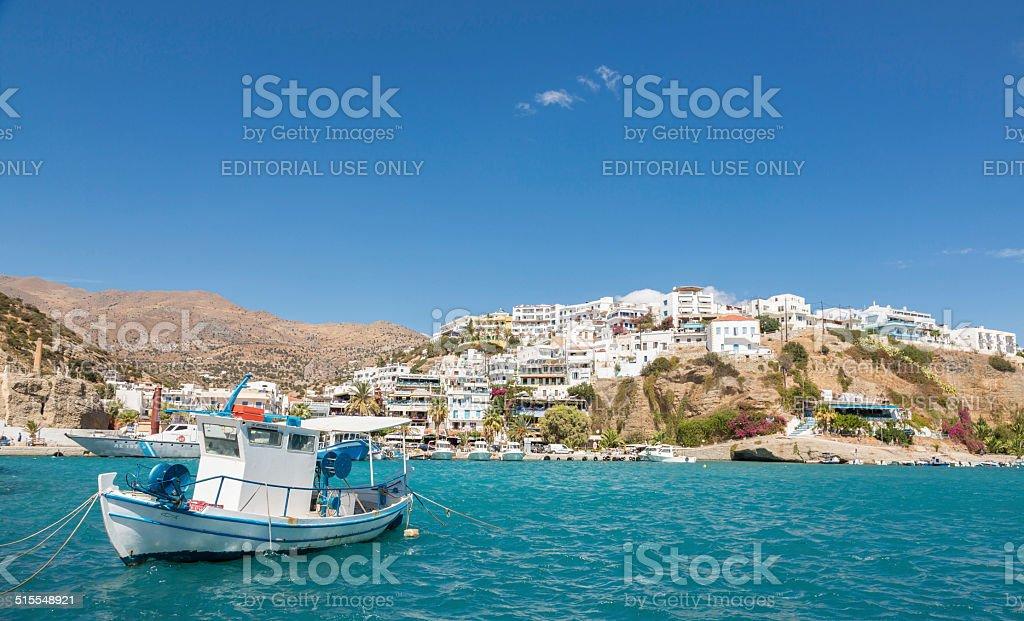 Peaceful Agia Galini, Greece stock photo