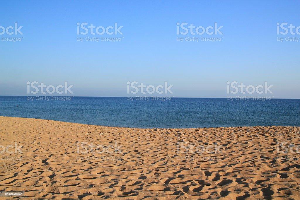 Peaceful beach royalty-free stock photo
