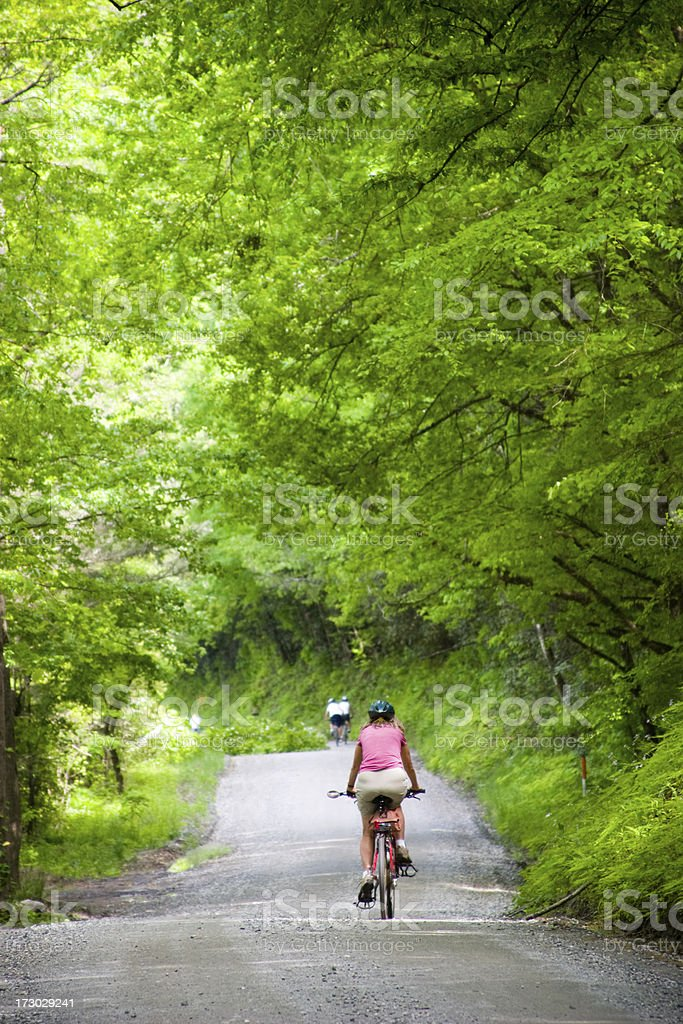 Peaceful bike ride royalty-free stock photo