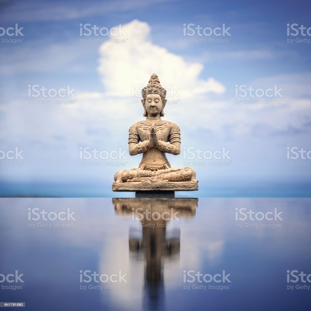 Peaceful Buddha Statue stock photo
