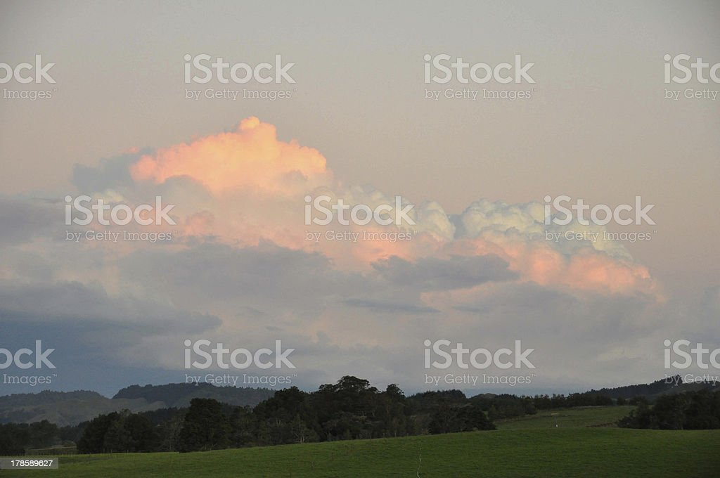 Peaceful clouds royalty-free stock photo