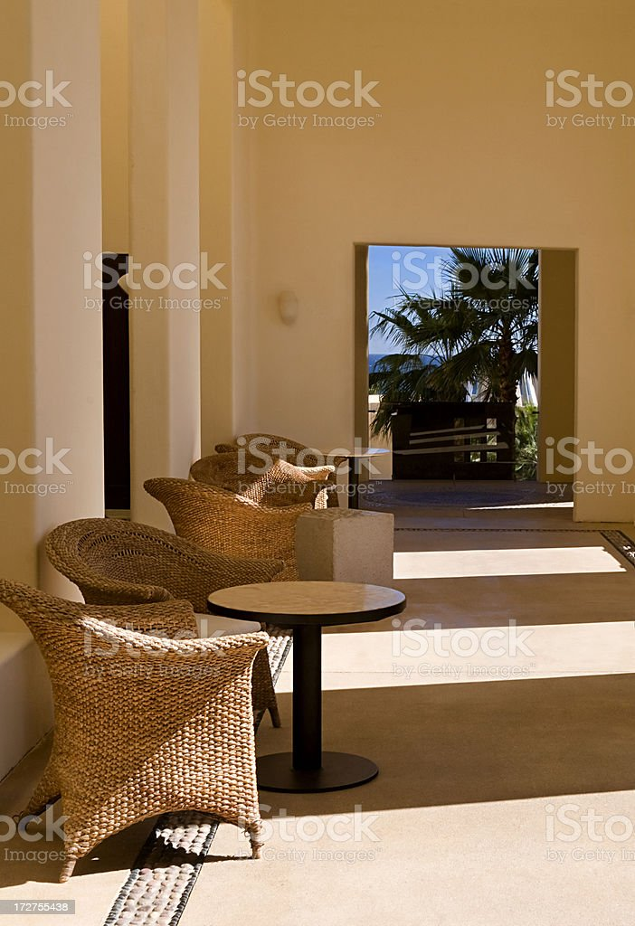 Peaceful Corridor royalty-free stock photo