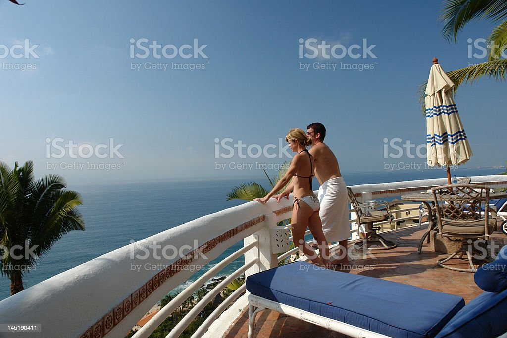 peaceful couple royalty-free stock photo