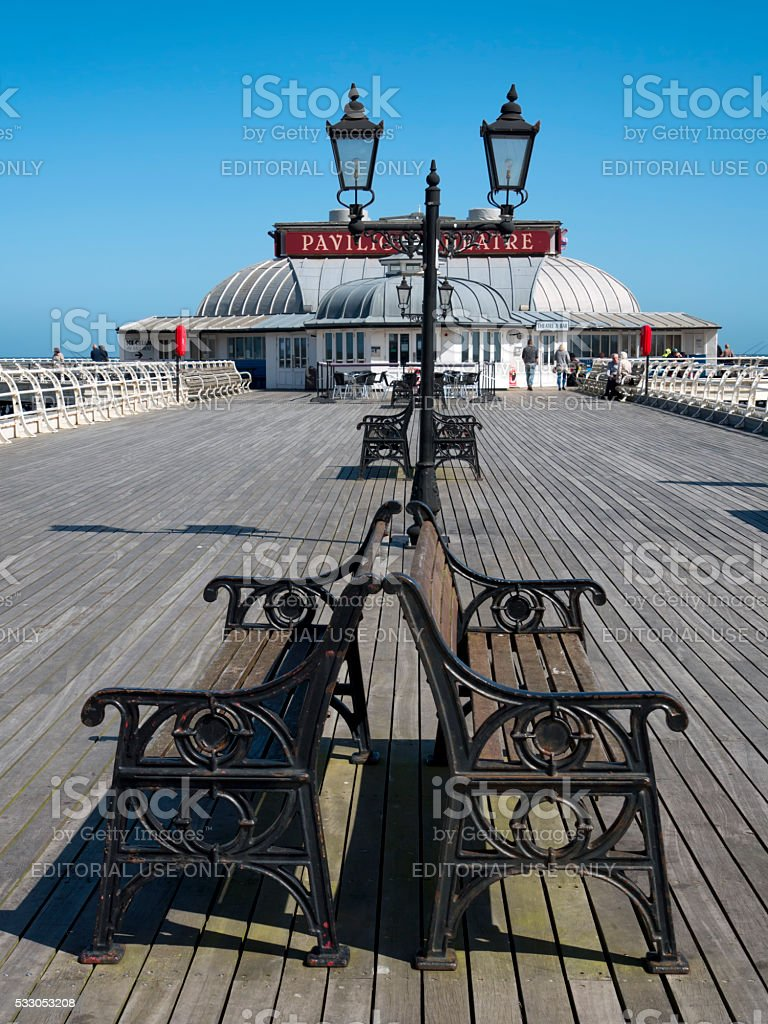 Peaceful day on Cromer Pier stock photo