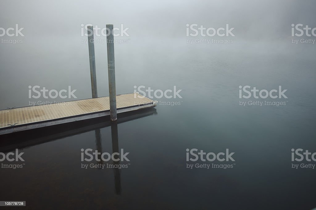 Peaceful Dock on a Lake stock photo