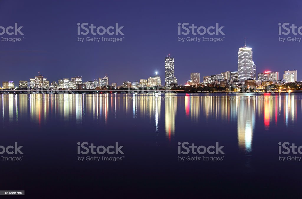 Peaceful Evening in Boston royalty-free stock photo