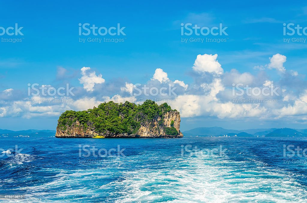 Peaceful exotic island with luxury hotels Thailand stock photo
