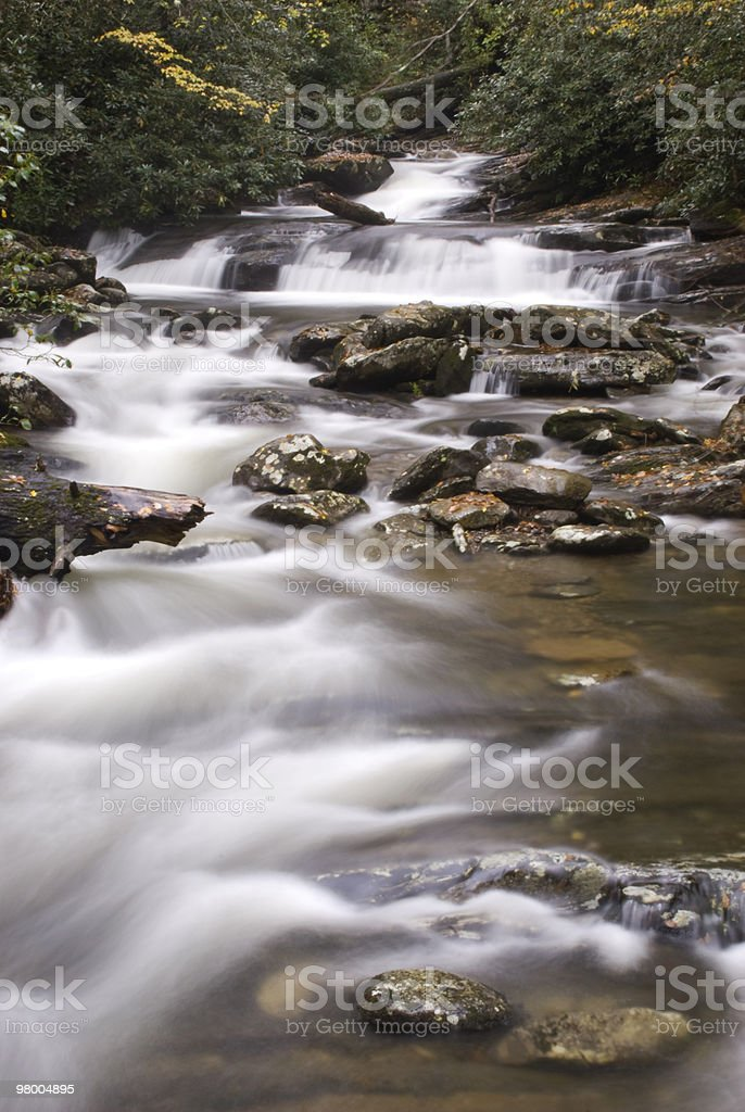 Peaceful Flowing Mountain Water stock photo